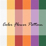 Color Flower Pattern Background