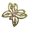 gold butterfly pink jewels