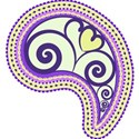 purple heart paisley
