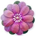 pink paper texture flower