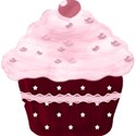 red and pink cupcake keep