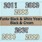 Funky Years Black White & Cream