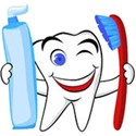 red and blue toothbrush and paste