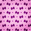 purple bow spotty