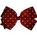 orange spotty bow