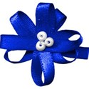 bow flower blue