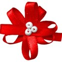 bow flower red