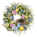 spring wreath 4 bird bow nest