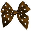 bow 01brown dotted