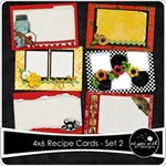 4x6 Recipe Cards - Set 2