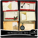 4x6 Recipe Cards - Set 3
