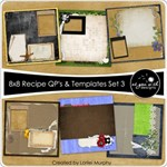 8x8 Recipe Cards - Set 3