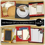 8x8 Recipe Cards - Set 6