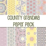 Country Grandma Paper Pack--  50 Free Papers!