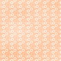 orange funky flowers background paper