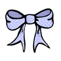 blue spotty hand drawn bow