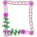 left flower bow doodle frame