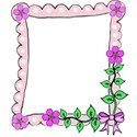 right flower and leaves bow frame