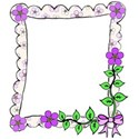 right bow flower frame doodle