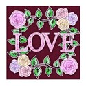 burgandy love rose stitch