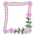 pink hand drawn rose frame right
