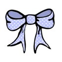 blue spotty bow