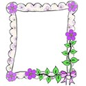 flower frame bow right