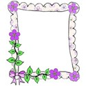 flower frame bow left