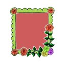lime green frame right roses