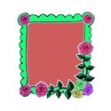 rose corner bright green frame right