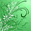 Green Swirly background
