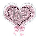love heart bow