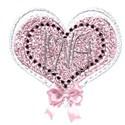 love heart bow