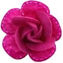 stitched felt flower