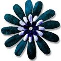turquoise blue flower