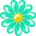 turquoise flower_vectorized