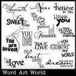 All Because of You Word Art