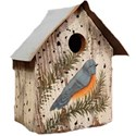 birdhouse painted bluebird
