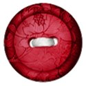 red fabric button