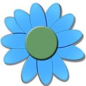 blueflowrgreendaisy
