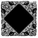 black lace doilie