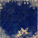 paper reverse blue butterfly