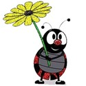 lady bug with flower