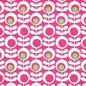 pink and green mod floral paper