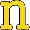 n - Yellow polka dot