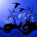 swirl dark blue background