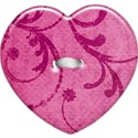heart flower button pink