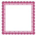 burgandy rose frame
