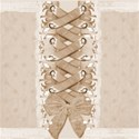 beige laced up background paper