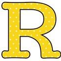 Big R - Yellow polka dot